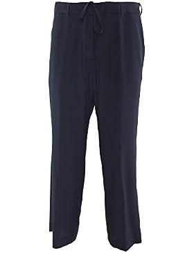 Aspesi Mujer H104B75305098 Azul Seda Pantalón