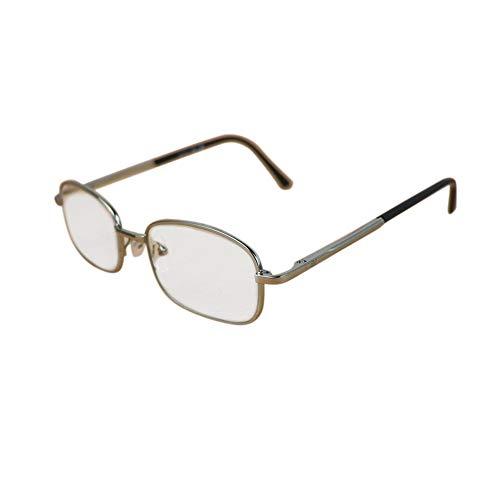 WULE-RYP Polarisierte Sonnenbrille mit UV-Schutz Klassische Full-Frame-Brillen, Vintage Brillen klare Linse für Männer. Superleichtes Rahmen-Fischen, das Golf fährt (Farbe : Clear)
