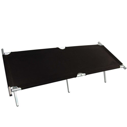 Black US Camp Bed