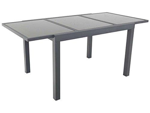 Tavolo da giardino allungabile in alluminio TROPIC 8 - Phonenix - Antracite