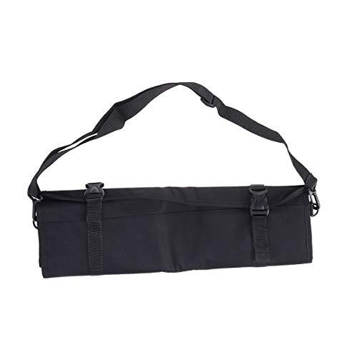 Messer-roll-set (Yardwe Professionelle Kochmesser Fall Messer Roll Bag Chef Bag Besteckhalter Veranstalter mit Schultergurt (schwarz))