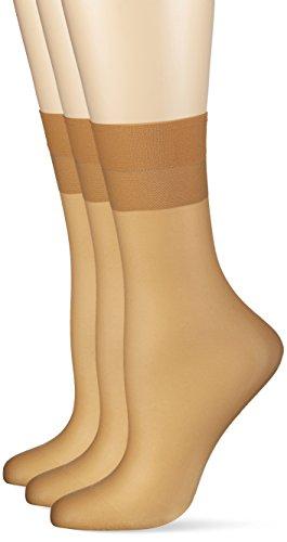 Hudson Damen 030044 Socken, 15 DEN, Beige (Skin 0014), 39/42 (3erPack)