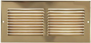 14 X 6 Brass Cold Air Return Vent Cover / Grille by FloorResources -