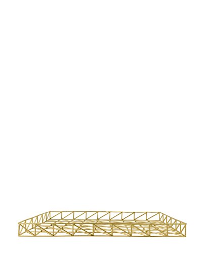 Bloomingville Letter Tray, Shiny Gold Finish L45xH3,5xW31 cm [P] [A]