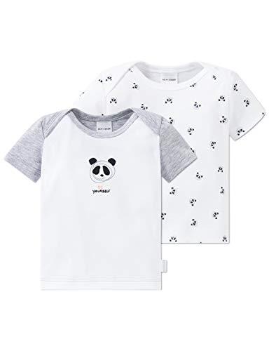 Schiesser Unisex Multi-Pack 2pack Baby Shirts 1/2 Schlafanzugoberteil Mehrfarbig (Sortiert 1 901) 80 (Herstellergröße: 080) (per of 2