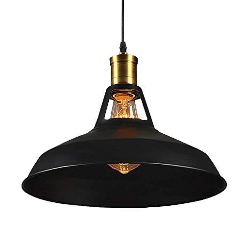 Xiao Yun ☞ Industrielle Vintage Deckenpendelleuchte Retro Schwarz Fertige Hängelampe E27 Antike Verstellbare Metall Kronleuchter Lampe für Küche Insel Bar Flur Esszimmer (Farbe: Schwarz) ☜ -