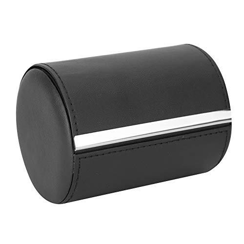 TMISHION Männer Krawatte Aufbewahrungsbox, Mode Runde PU Leder Travel Essentials Reisen Krawattenetui, Krawatte Verpackung Geschenkbox, Werbegeschenk, Krawatte Aufbewahrungskoffer
