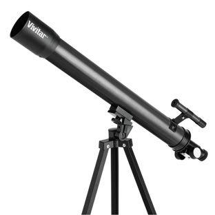 VIVITAR 75–150X–TELESCOPIO REFRACTOR CON TRIPODE DE TAMAñO COMPLETO–NEGRO