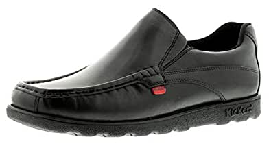 Kickers Mens/Gents Black Fragma Moccasin Style Casual Shoes. - Black - UK Size 11