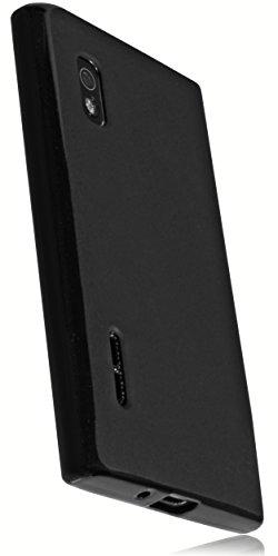 mumbi TPU Silikon Schutzhülle LG E610 Optimus L5 Hülle schwarz