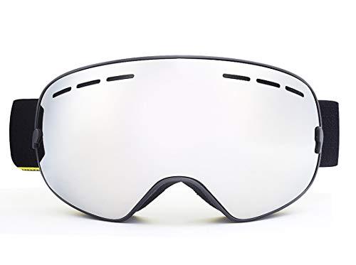 Fahrradbrille Mit Sehstärke Doppelte Anti Fog Hd Skibrille Mit Sandschutzbrille Black Silver Damen Herren