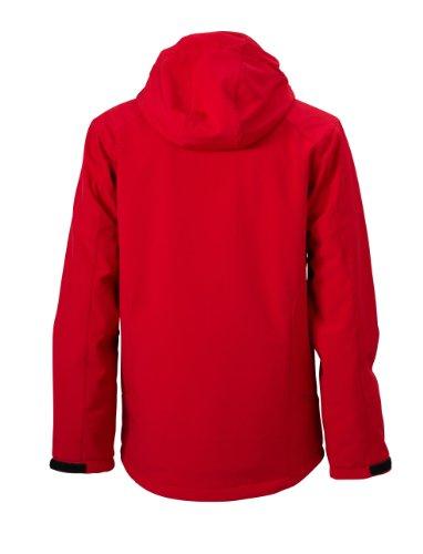 Gefütterte Wintersportjacke aus Softshell für Herren Red
