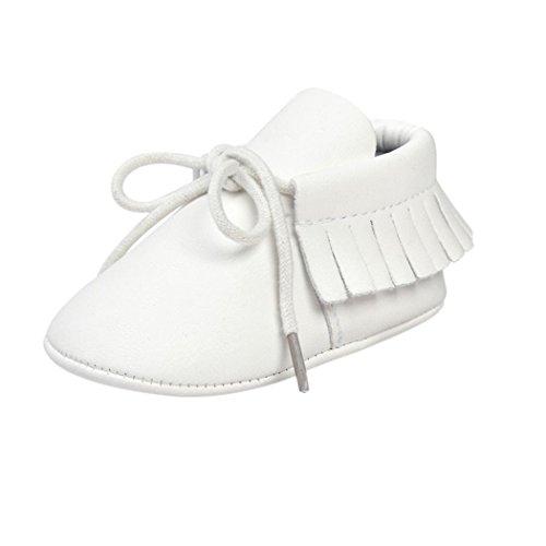 Culater® Culla Nappe Bandage Morbida Suola Scarpe da Tennis dei Pattini Casuali (11, Bianca)