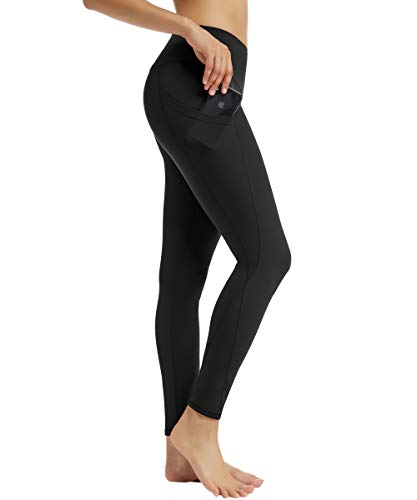 BELAROI Sporthose Damen Leggings High Waist Yogahose Elastische Fitnesshose Laufhose Tummy Control mit Tasche Quick Dry Hohe Taille Lang