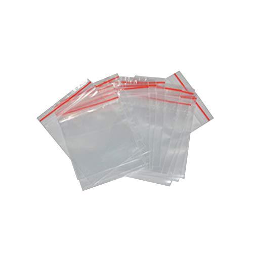 Xiton 100 5x7 Clear Wiederverschließbare Reißverschlussbeutel 4MIL Kleine POLYbeutel Wiederverschließbare Beutel Baggies Kunststoff