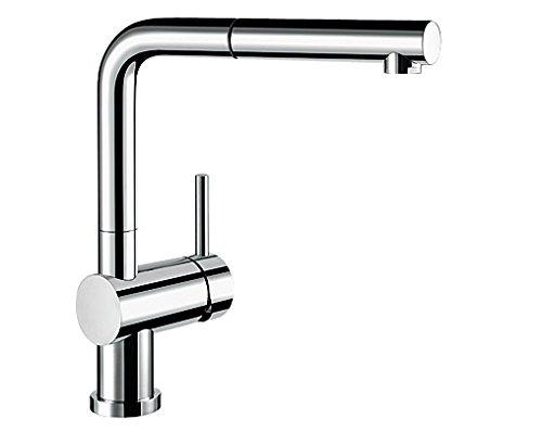 Preisvergleich Produktbild Blanco LINUS-S-F Küchenarmatur, metallische Oberfläche, chrom, Niederdruck, Vorfenster, 1 Stück, 514276