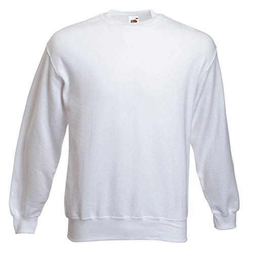 Fruit of the Loom Herren 62-202-0 Sweatshirt, weiß, Größe S