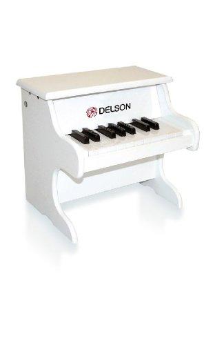 Delson 1822W - Piano para niño o bebé, color blanco