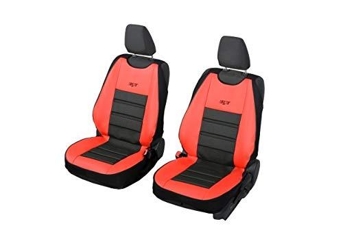 Coprisedili universali Flash nero e rosso per Opel Adam – 2 pezzi. Un set di sedili anteriori