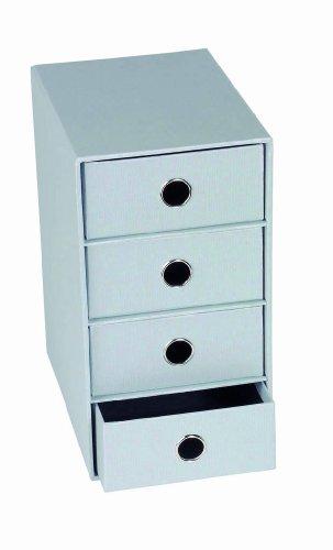 Rössler Papier 1524452174, S.O.H.O. Schubladenbox vierfach, stone