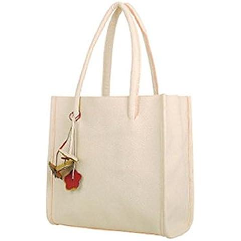 Tongshi Moda bolsos chicas elegantes de cuero bolso de color caramelo florece totalizador de las mujeres