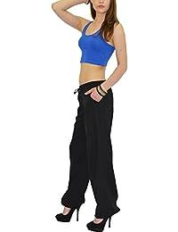 by-tex Pantalon Femme Lin Pantalon Pump Pantalon Femmes H02
