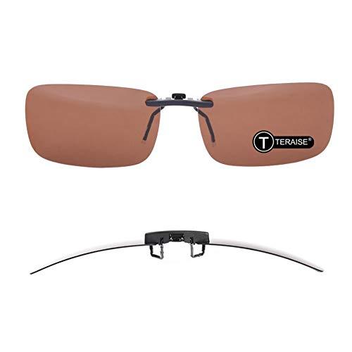Polarized Clip-on Sunglasses Over Prescription Glasses Anti-Glare UV401 for Men Women Driving Travelling Outdoor Sport …