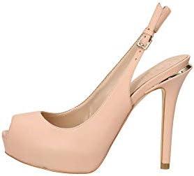 Guess Hartlie/spuntato (Open Toe)/le, Zapatos de tacón con Punta Abierta para Mujer, Beige (Light Natural NATU), 40 EU