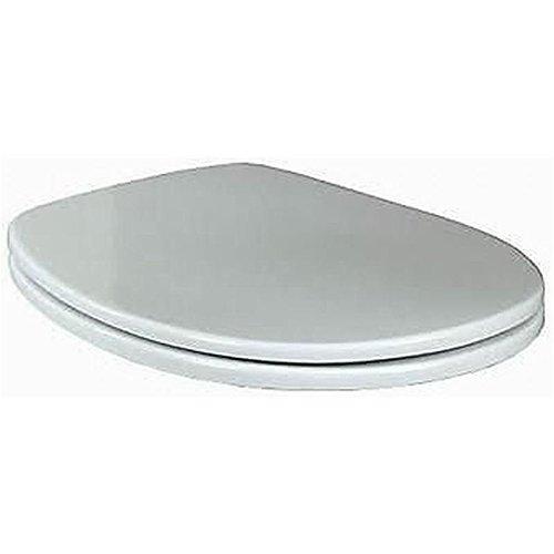 Preisvergleich Produktbild Villeroy & Boch 88236101 WC-Sitz Omnia Scharniere, edelstahl / weiß