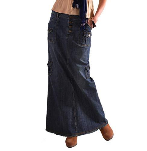 Stretch-satin Belted Kleid (Tomatoa Damen Sommerrock Rock Lang Jeans Rock Maxi Rock Langer Rock Strandrock Retro Maxirock Röcke für Damen Jeansrock Casual Denim Rock Mode Maxiröcke Bodycon Bleistiftrock)