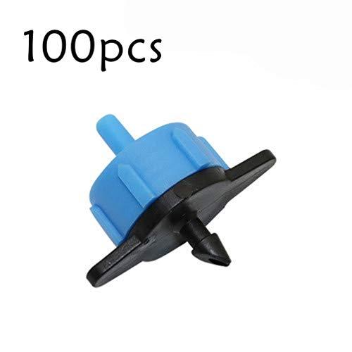 100 Stücke 8L / H druckausgleichender Tropfer Landwirtschaft Bewässerungssystem Micro Emitter Dripper (blau)