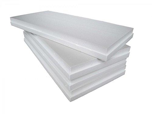FUTURAZeta Polistirolo Pannelli EPS 100 Bianco Densità Maggiorata 20 Kg/Mc Polistirene Espanso Spessore 3 . per isolamento termico.