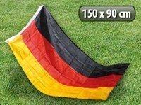 Preisvergleich Produktbild PEARL Deutschland Fahnen: Deutschlandfahne 150 x 90 cm aus reißfestem Polyester (Flagge)
