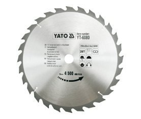 Preisvergleich Produktbild Yato yt-6080–Hartmetall-Kreissägeblatt 350x 28x 30mm