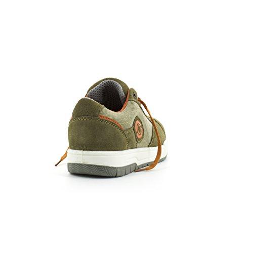 Foxter Baskets de Sécurité Basses Nevada Kaki - Confort - Légères et Respirantes - Chaussures Homme - S1P SRC Cuir