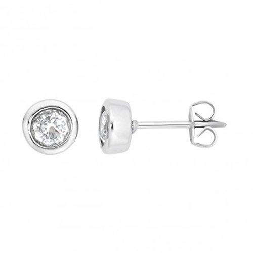 Magnet Solitaire Fashion Ohrstecker Energetix 4you 1382P mit hochwertig geschliffenen Swarovski White Diamond Crystal Magnetix Retro Design