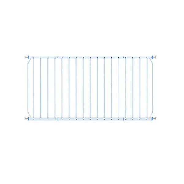 Huo Child Window Guard Fence Balcony Protection Net High-rise Bay Window Railing Free Punching Security Net (Size : 260-335cm) Huo ◆ Safety Gates materials: strict selection of standard safety materials ABS plastic +iron pipe + environmentally friendly smooth surface spray ◆Strong bearing capacity:Mounts inside (recommended), easy to disassemble, no damage to the wall;Tested to withstand 150kg ◆ Safety Gates Tall Wide Large: Expands to ways and openings between 85-335cm wide. Stand 77cm tall. 2
