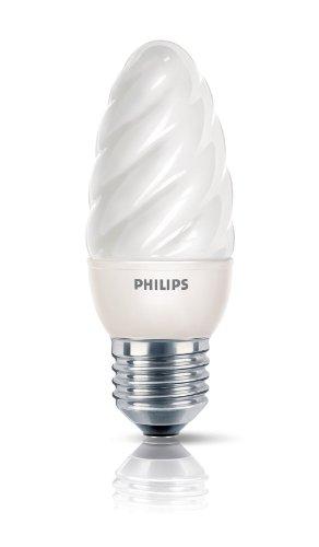Philips Ampoule FluoCompacte Flamme Torsadée Culot E14 5 Watts Consommés Équivalence Incandescence : 21W