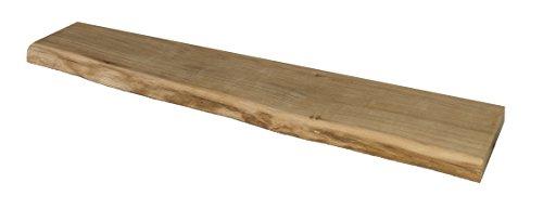 Wandregal, Eiche, massiv, Holz, Regal, Baumkante, rustikal Wandboard (60 mit Baumkante)