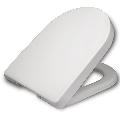 WOLTU WC Tapa y Asiento para Inodoro, Asiento de inodoro de Plástico con...