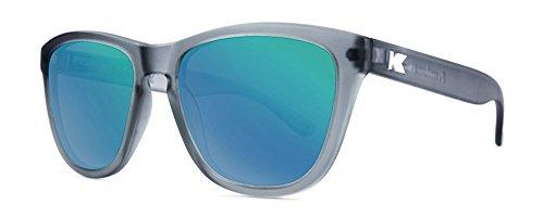 Sonnenbrillen Knockaround Premium Frosted Grey / Green Moonshine polarisierten