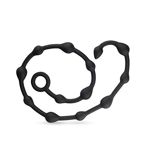 Easytoys Online Only Anal Beads - Softe Anal-Kugelkette für Männer und Frauen, Silikon Analkugeln mit unterschiedlich großen Kugeln, 1 Stück
