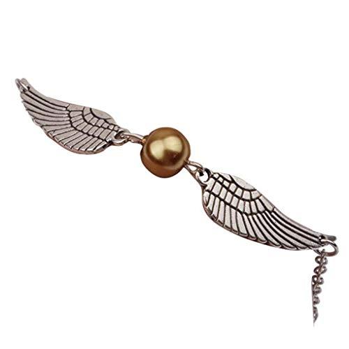 Dorical Armband/Damen Mädchen Armband Silber Retro Bracelet mit Perle und Flügel/Party Hochzeits Schmuck Accessories(Gold)