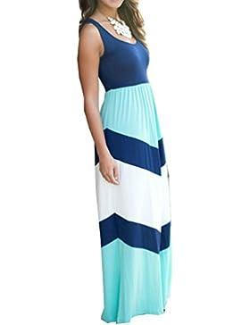 Mama und Kind Mädchen gestreiften Frühjahr Kleider Kleid mit Familie Freizeitkleidung Beiläufig Kleider--Langarm...