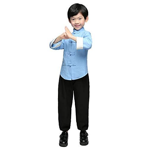 Chenyang86 Kleidung der Republik China - chinesische Kostüme, Kostüme, Mode, Baumwolle, Nationale Bräuche (Farbe : Hellblau, größe : 130cm)