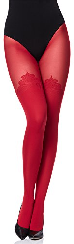 Merry Style Damen Strumpfhose Feinstrumpfhose MS 389 60 DEN(Rot, M (36-40))