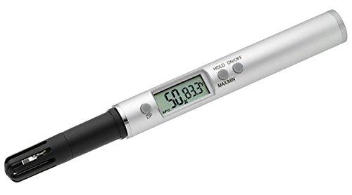 TFA Dostmann Digitales Profi-Thermo-Hygrometer, professionelle und genaue Klimakontrolle, Temperatur, Luftfeuchtigkeit, Abschaltfunktion