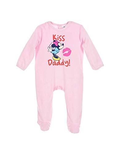 c5e08329088da Minnie Pyjama Velours bébé Fille Kiss Daddy  Rose de 3 à 24mois - Rose