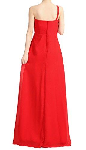 Eyekepper Robe Femme Elegante Robe La Demoiselle d'honneur Longue Robe Soiree Rouge