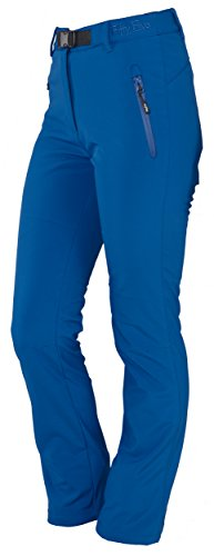 Fifty Five Damen-Softshell-Regen-Ski-Hose - Orac royal36 - winddichte wasserfeste atmungsaktive Wander-Thermo-Hosen